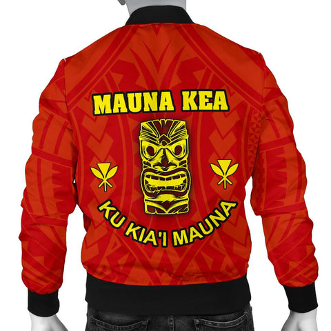 Hawaii Mauna Kea Men's Custom Personalised Bomber Jacket - Tiki Mask - BN12