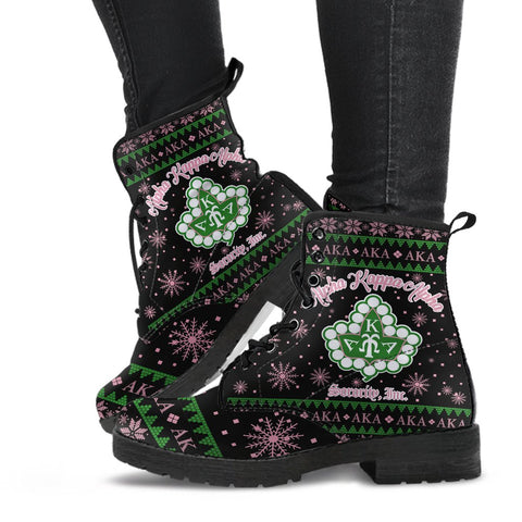 3D ALL OVER ALPHA KAPPA ALPHA UGLY Leather Boots A31