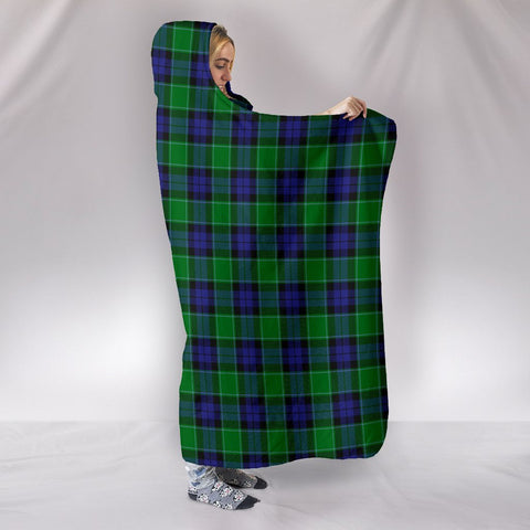 Graham of Menteith Modern, hooded blanket, tartan hooded blanket, Scots Tartan, Merry Christmas, cyber Monday, xmas, snow hooded blanket, Scotland tartan, woven blanket