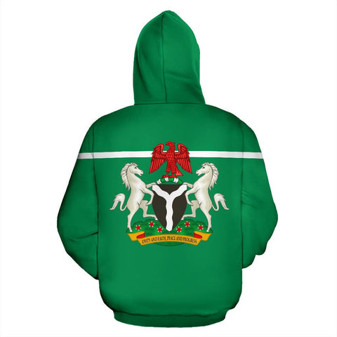 Nigeria All Over Hoodie - Horizontal Style - BN09