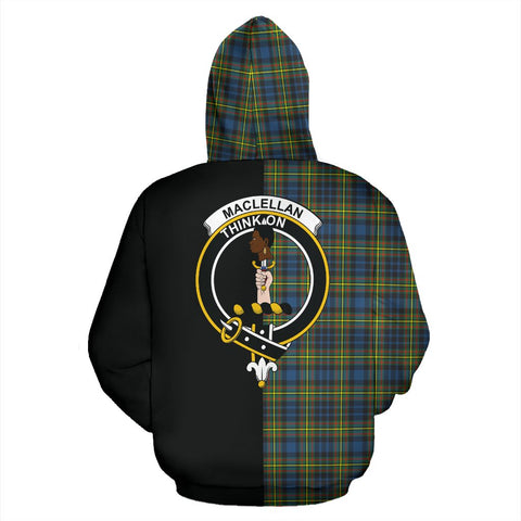 Image of MacLellan Ancient Tartan Hoodie Half Of Me TH8