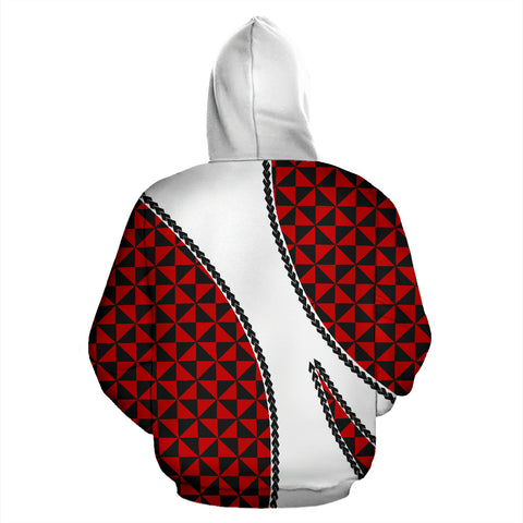 Image of Tonga Polynesian Hoodie Coat Of Arms - Sports Style TH5