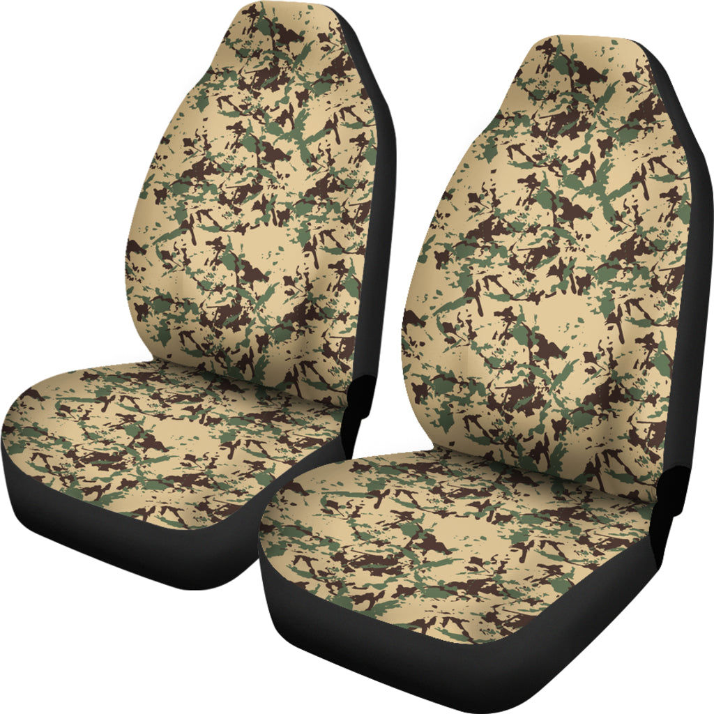 Green Forest Camo Car Seat Cover