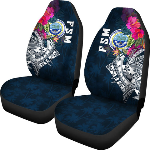 Federated States Of Micronesia Car Seat Covers - Federated States Of Micronesia Summer Vibes