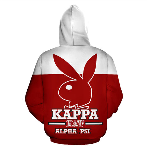 Image of Kappa Alpha Psi All Over Zip-Up Hoodie - Mascot - BN01