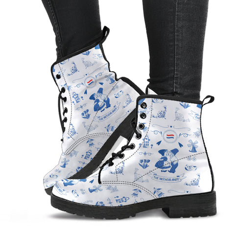 THE NETHERLANDS Symbols Leather Boots | Love The World