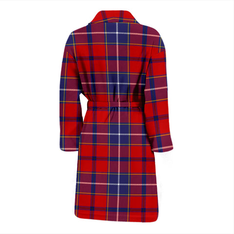 Wishart Dress Bathrobe - Men Tartan Plaid Bathrobe Universal Fit