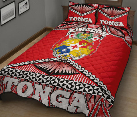 Tonga Polynesian Quilt Bed Set - Coat Of Arms - BN12