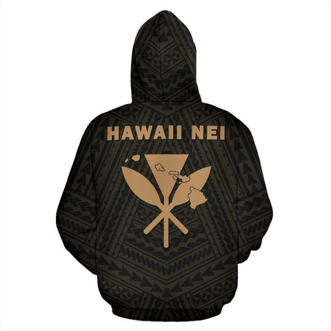 Image of Hawaii Kanaka Polynesian Hoodie Gold - AH - J71