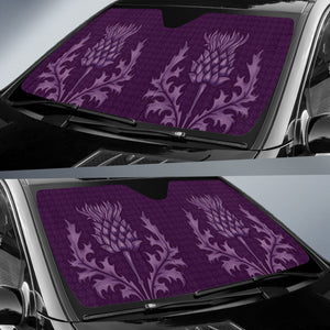 Scotland Auto Sun Shades - Purple Thistles A9