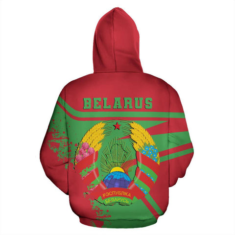 Image of Belarus Hoodie Painting Style Th52