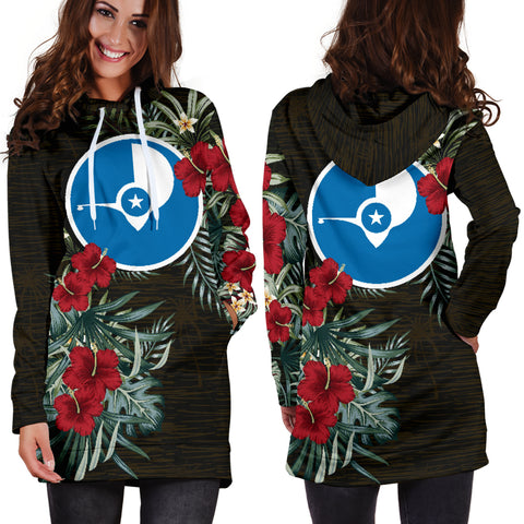 Image of Yap Hibiscus Hoodie Dress A7