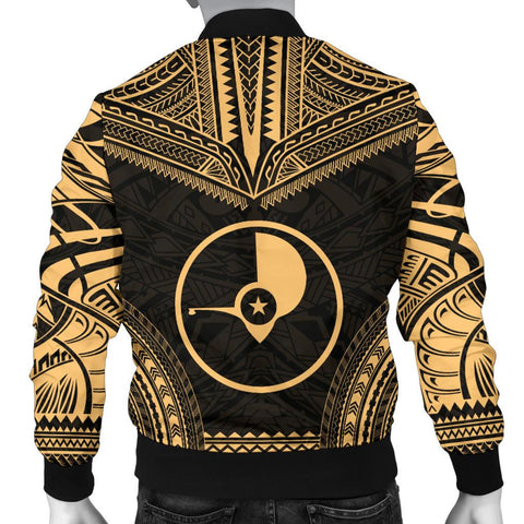 Yap Polynesian Chief Men's Bomber Jacket - Gold Version