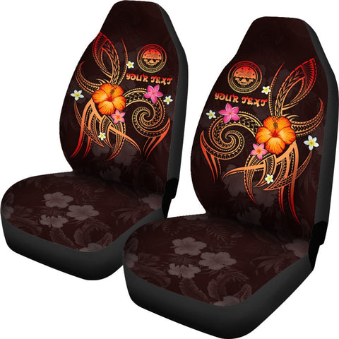 Federated States of Micronesia Polynesian Personalised Car Seat Covers - Legend of FSM (Red)