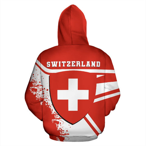 Switzerland Hoodie Painting Style Th52