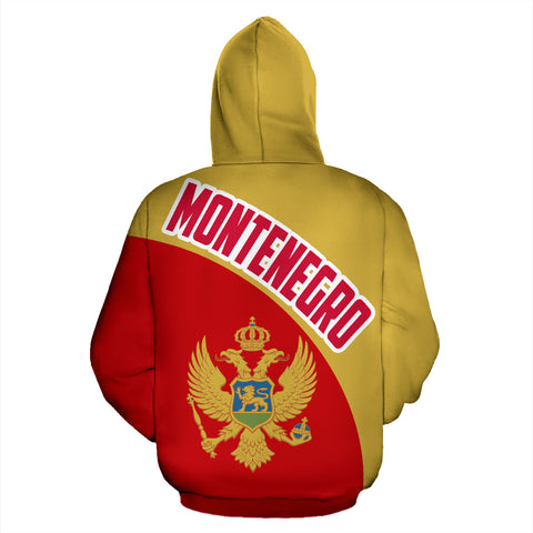 Montenegro Zip-Up Hoodie Wave Flag Color Th90