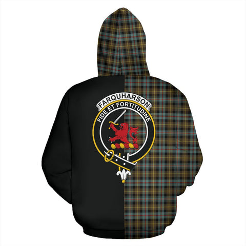 Farquharson Weathered Tartan Hoodie Half Of Me TH8