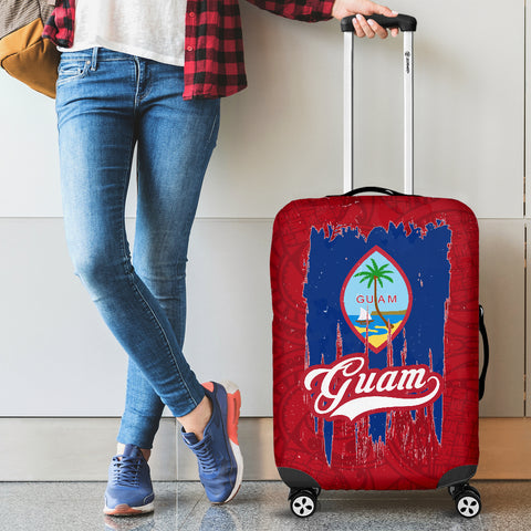Guam Flag Luggage Cover | Travel Suitcase Protector