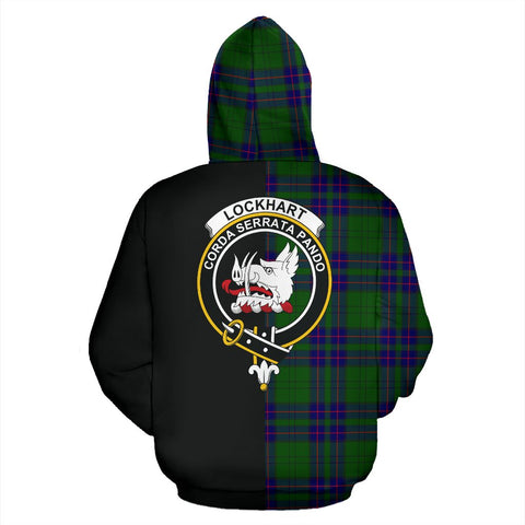 Lockhart Modern Tartan Hoodie Half Of Me TH8