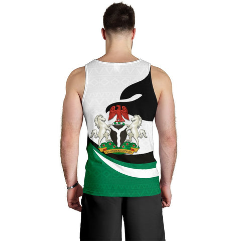 Nigeria Men Tank Top Proud Version Back | 1sttheworld