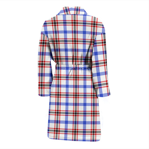 Boswell Modern Bathrobe - Men Tartan Plaid Bathrobe Universal Fit