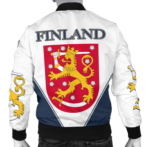 Image of Finland Hockey Bomber Jacket - Hockey Lion (Men) | Love The World