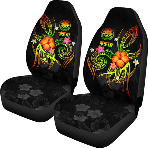 Federated States of Micronesia Polynesian Car Seat Covers - Legend of FSM (Reggae)