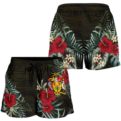 Image of Barbados 1 Hibiscus Women's Shorts A7
