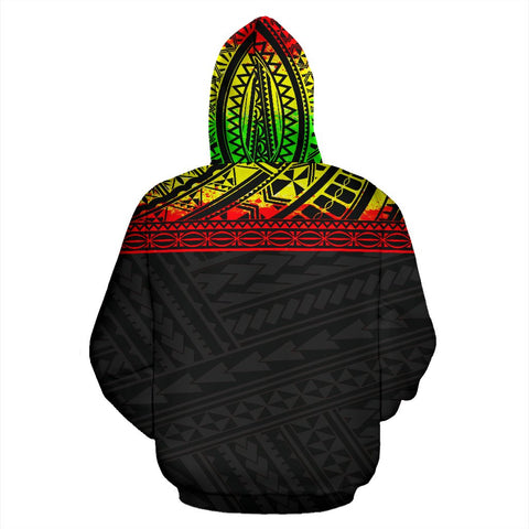 Poly All Over Print Hoodie - Polynesian Reggae Custom Version - BN09