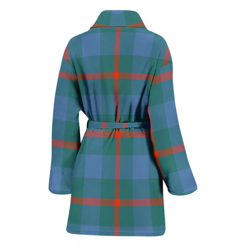 Image of Agnew Ancient Bathrobe - Women Tartan Plaid Bathrobe Universal Fit
