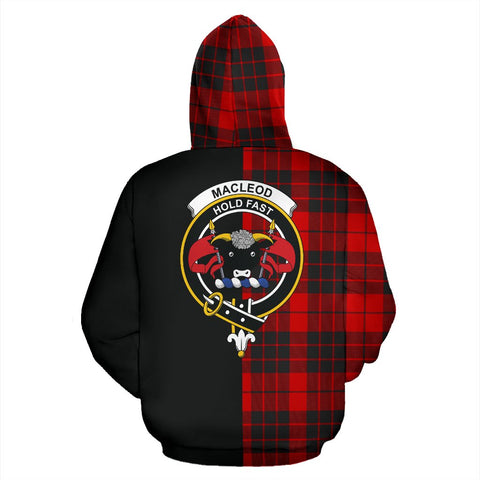 Image of MacLeod of Raasay Tartan Hoodie Half Of Me TH8