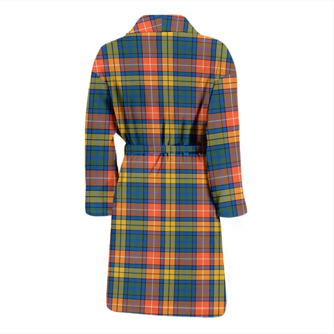 Buchanan Ancient Bathrobe - Men Tartan Plaid Bathrobe Universal Fit