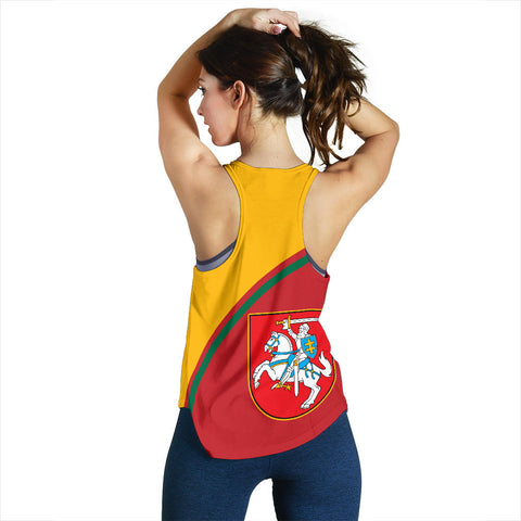 Image of Lithuania Women's Racerback Tank - Curve Version  back