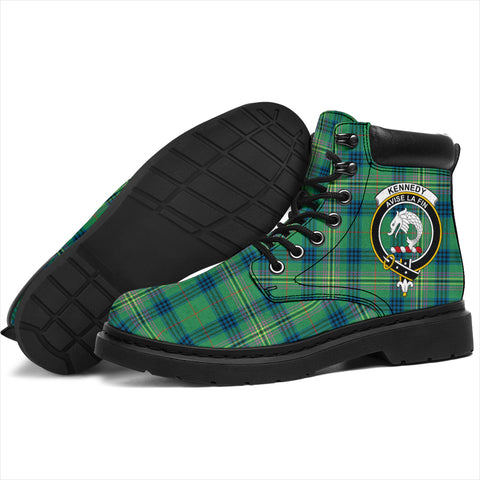 Kennedy Ancient Tartan Clan Crest All-Season Boots HJ4