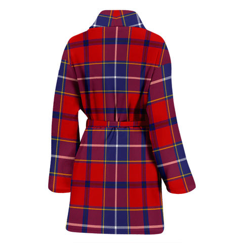 Wishart Dress Bathrobe - Women Tartan Plaid Bathrobe Universal Fit