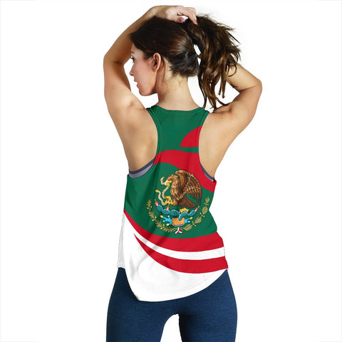 Image of Mexico Women Racerback Tank Proud Version | 1sttheworld