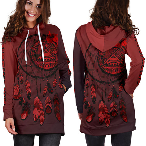 American Samoa Dreamcatcher Hoodie Dress A02 |Women's Clothing| 1sttheworld