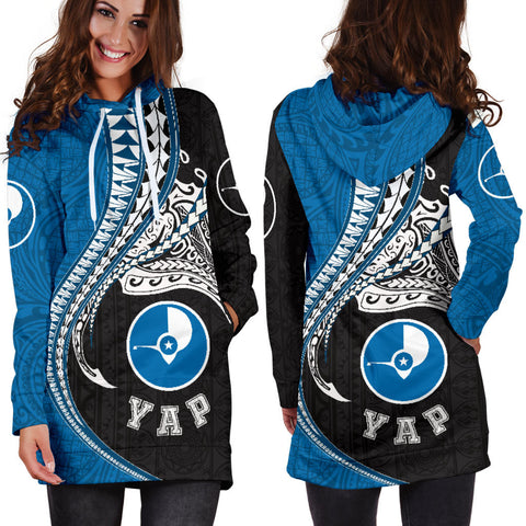 Yap Polynesian Women's Hoodie Dress Manta Polynesian