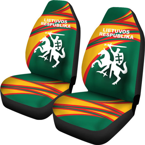 Lithuania Car Seat Covers N Flag A15