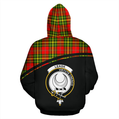 Leask Tartan Custom Personalised Hoodie - Curve Style Back