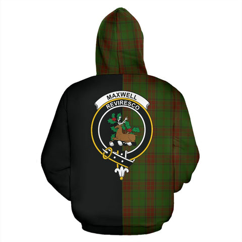 Maxwell Hunting Tartan Hoodie Half Of Me TH8