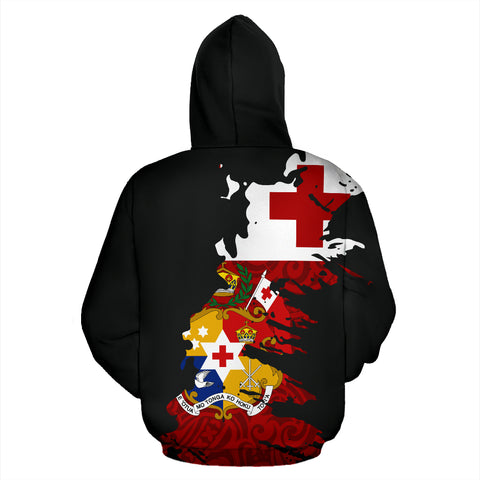 Tonga Hoodie Painting Polynesian Zip UP 01