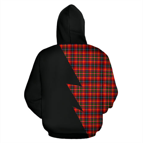 Tartan All Over Hoodie - Innes Clans Badge - BN