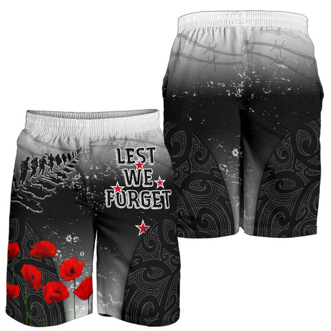 New Zealand Anzac Men's Shorts - Lest We Forget Poppy| 1sttheworld