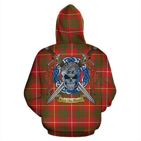 Image of Bruce Modern Tartan Hoodie Celtic Scottish Warrior A79 | Over 500 Tartans | Clothing | Apaprel