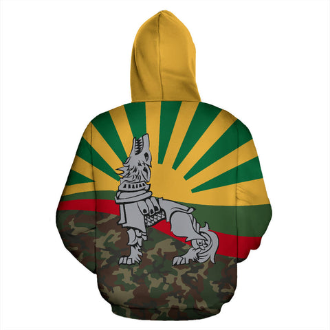 Image of Lithuania Zipper Hoodie Iron Wolf A7