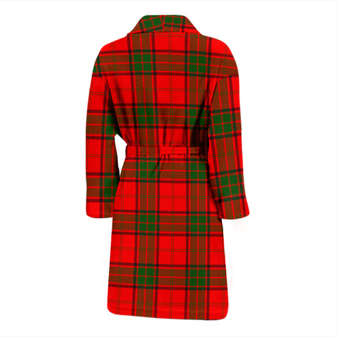 Maxwell Modern Bathrobe - Men Tartan Plaid Bathrobe Universal Fit