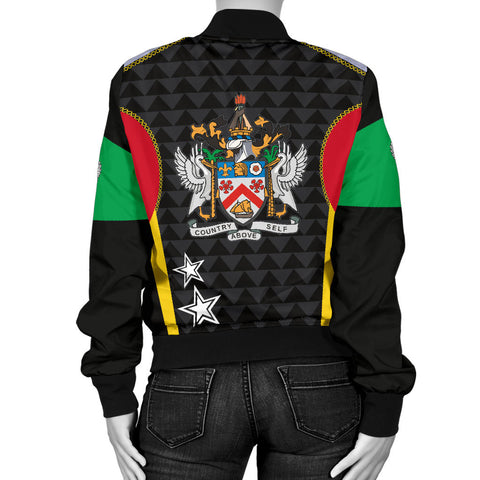 Saint Kitts and Nevis Women's Bomber Jacket Exclusive Edition K4