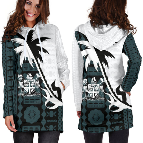 Fiji Coconut Tree Hoodie Dress K4 |Women's Clothing| 1sttheworld