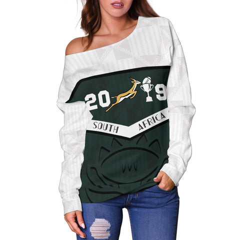 South Africa Springbok Champion 2019 Off Shoulder Sweater 2